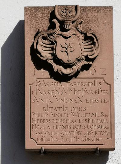 Wappenstein Rathaus