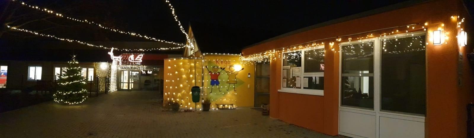 Kindergarten Weihnachtsbeleuchtung